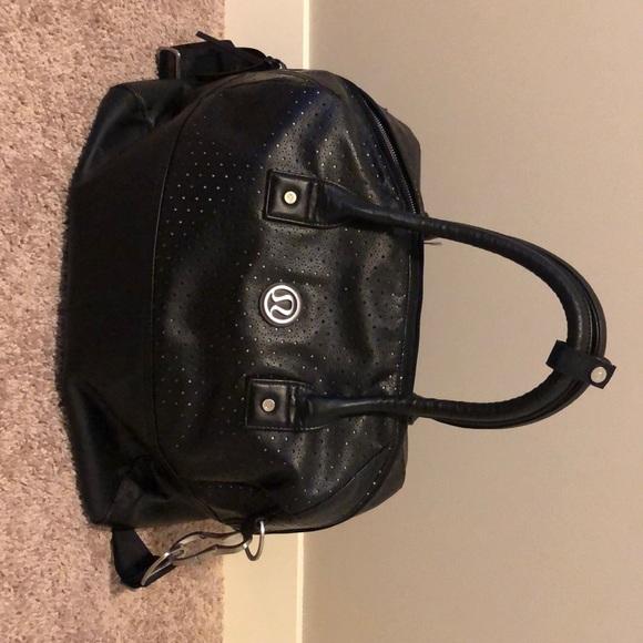 Lululemon Leather Overnight bag